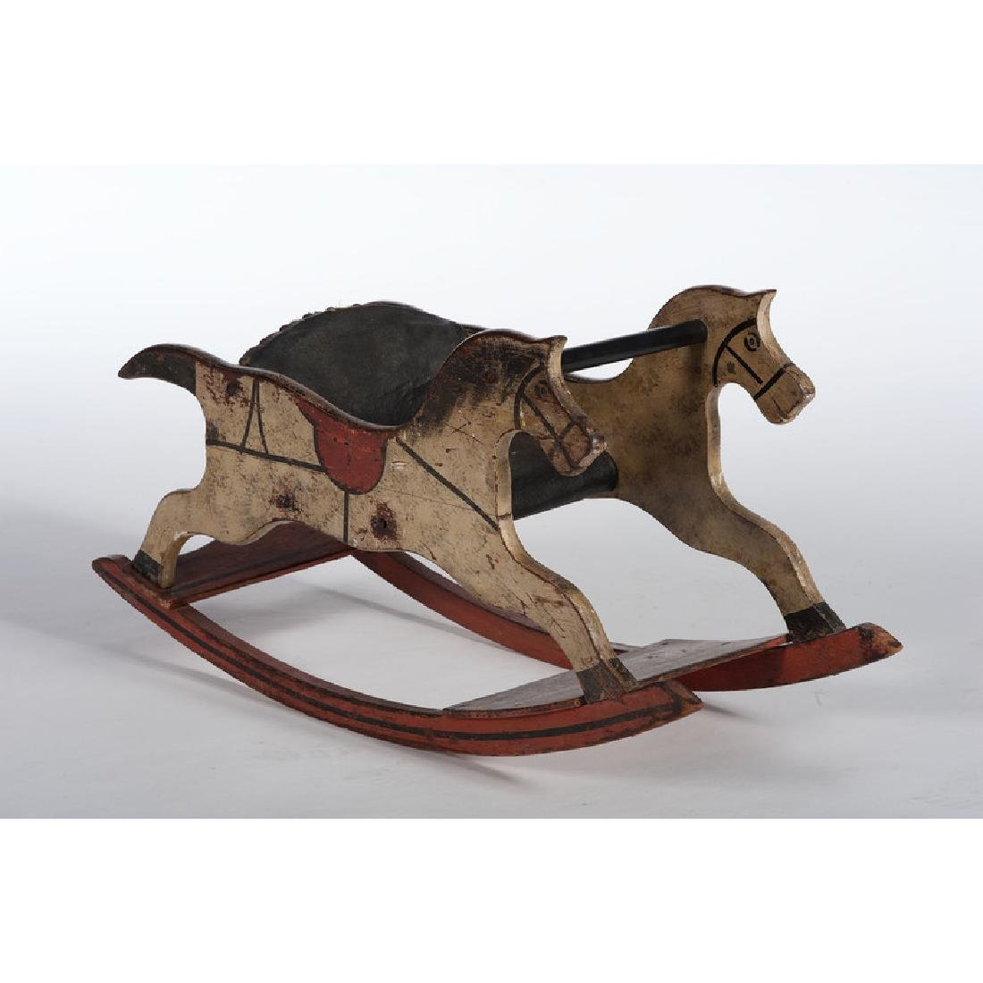 Child's Painted Horse Rocker