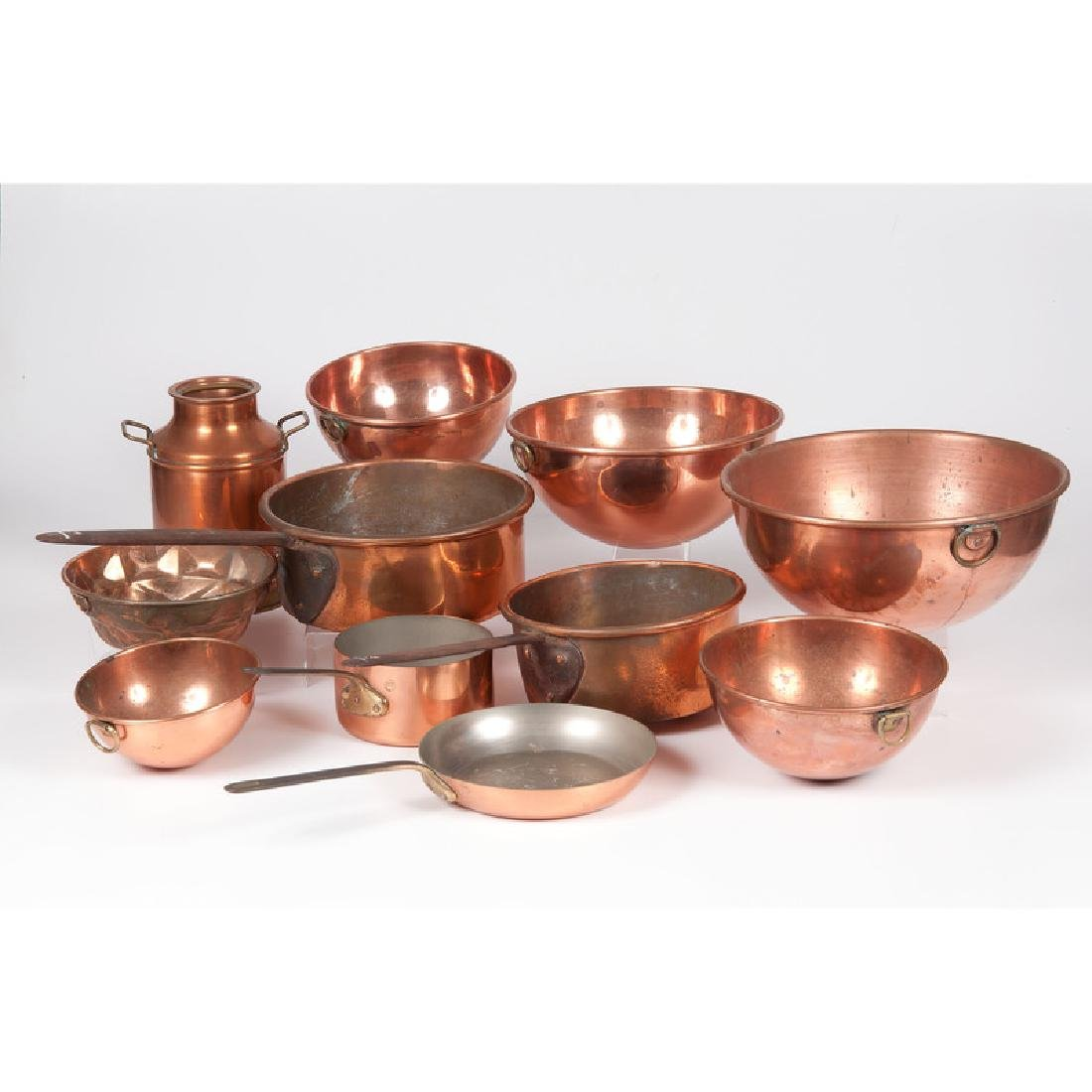Copper Bowls and Pans