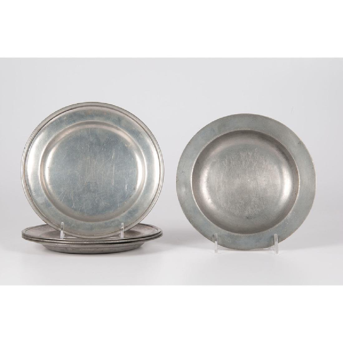 American and Scottish Pewter Plates