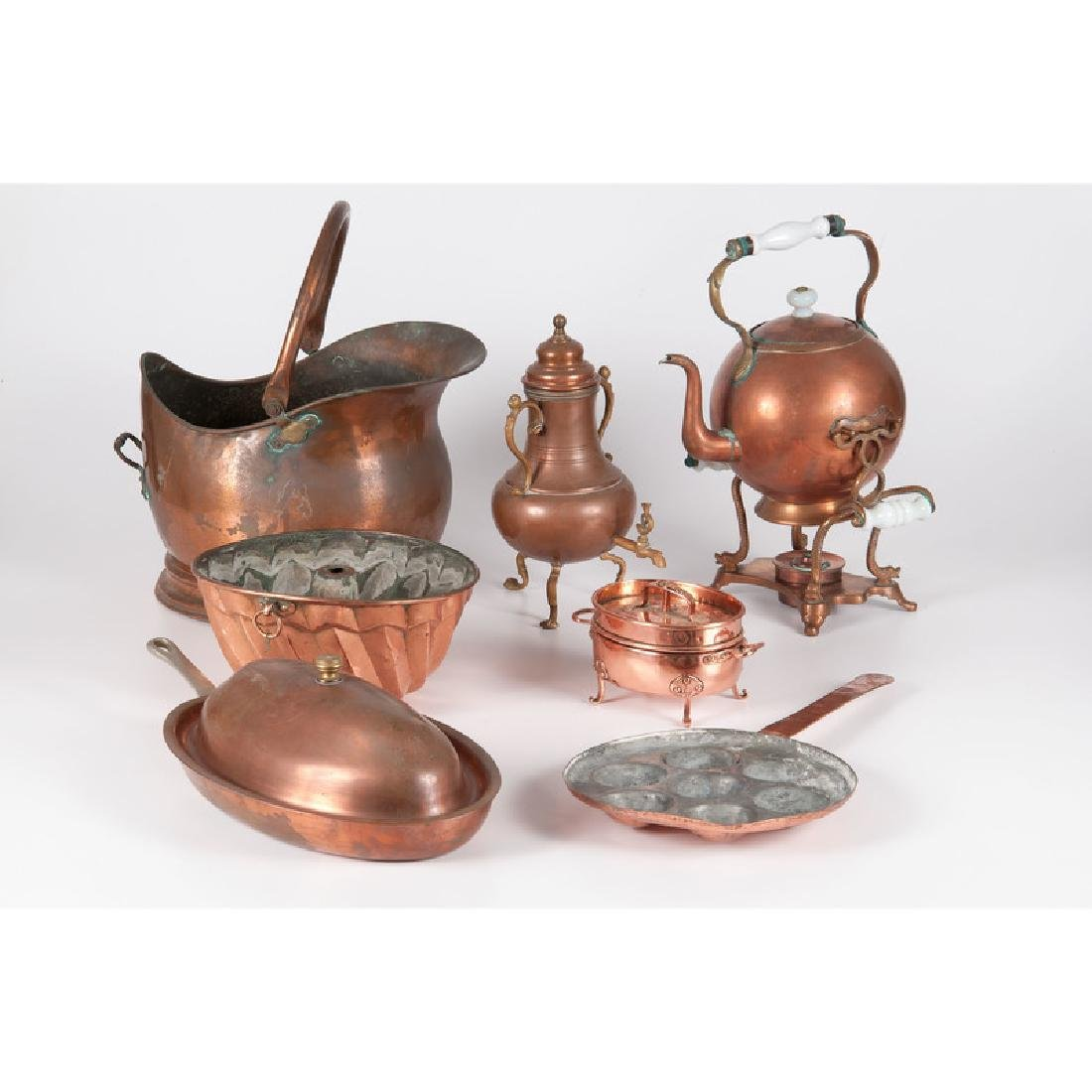 Copper Tablewares, Including Danish Examples