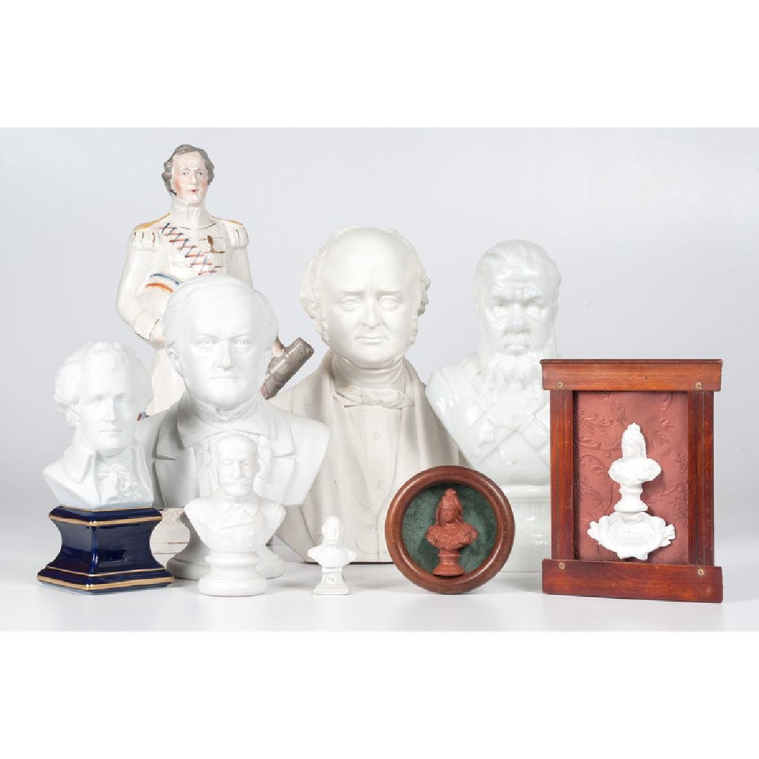 Parian Busts of Mozart and Other Continental Figures,