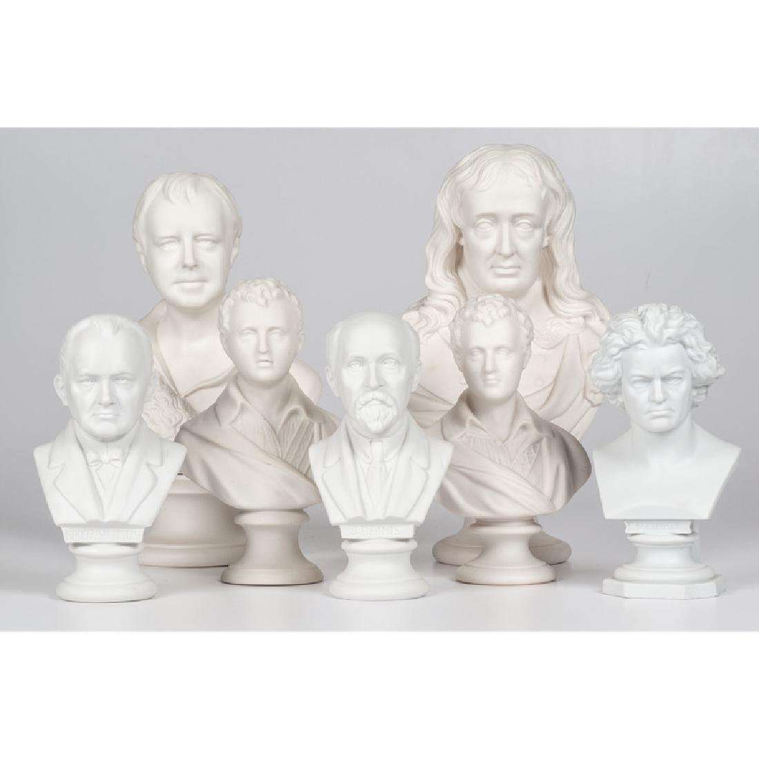 Parian Busts of Continental Cultural Figures