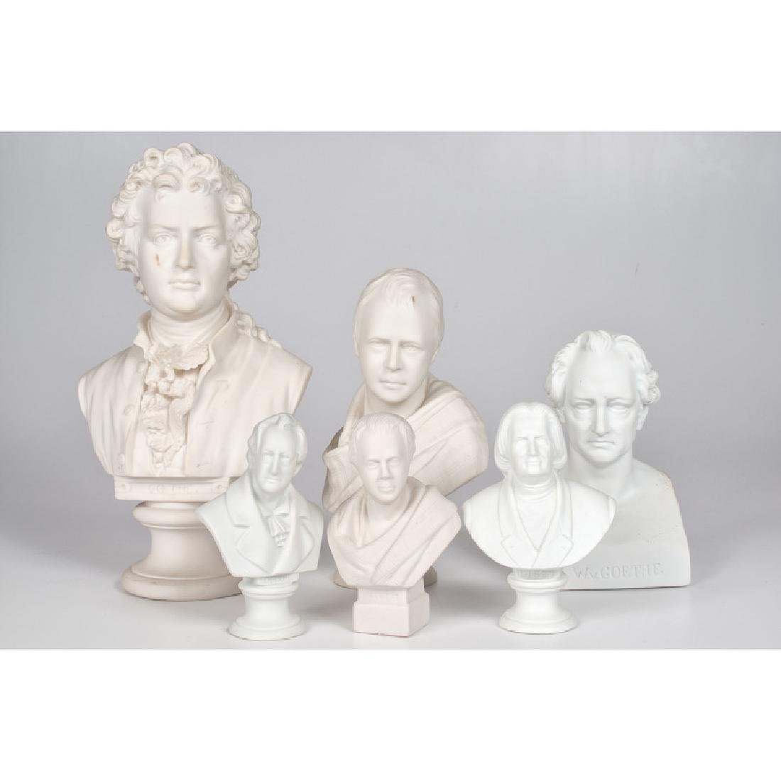 Parian Busts of Continental Figures