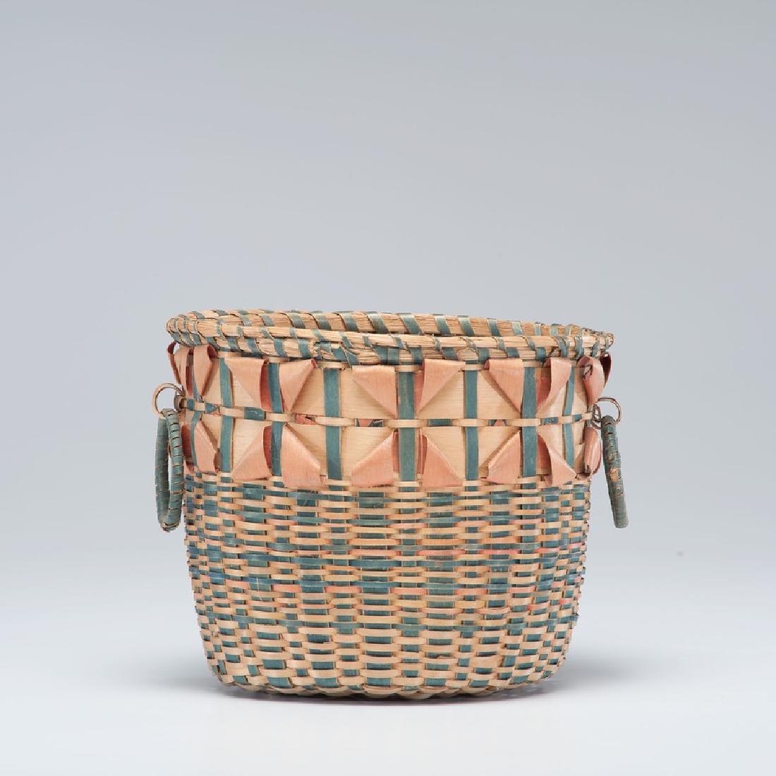 Haudenosaunee (Iroquois) Polychrome Split Ash Basket