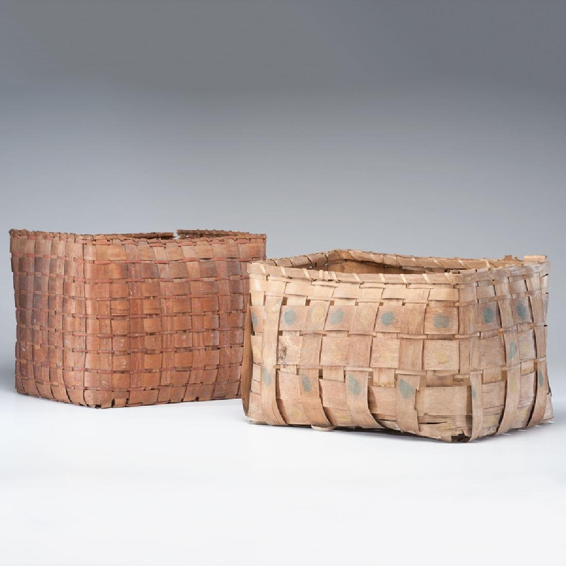 Haudenosaunee (Iroquois) Potato Stamped Storage Baskets
