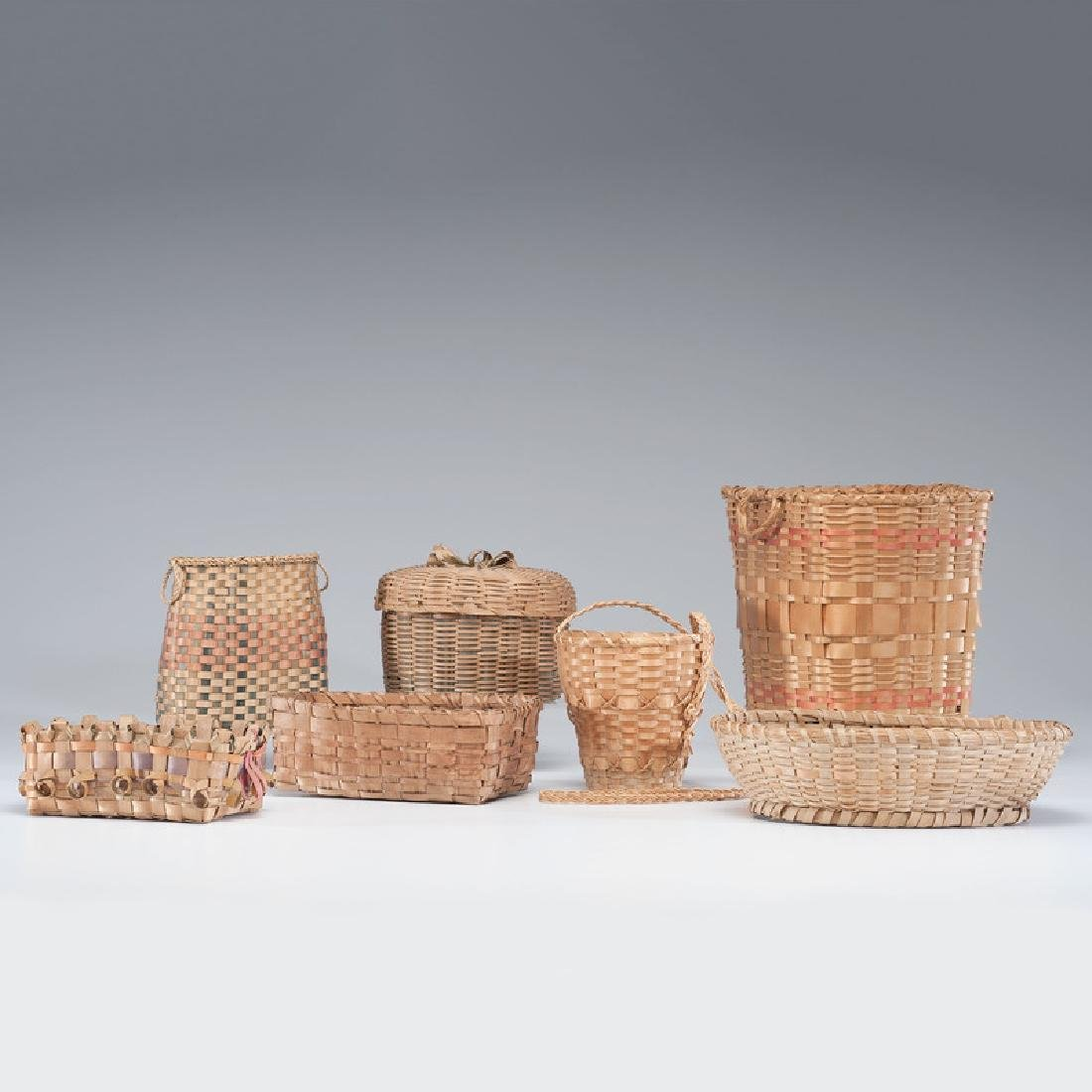 Northeastern Native American Split Ash Baskets