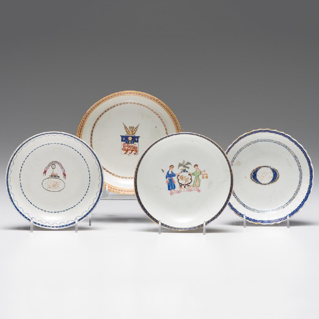 Chinese Export Armorial Saucers