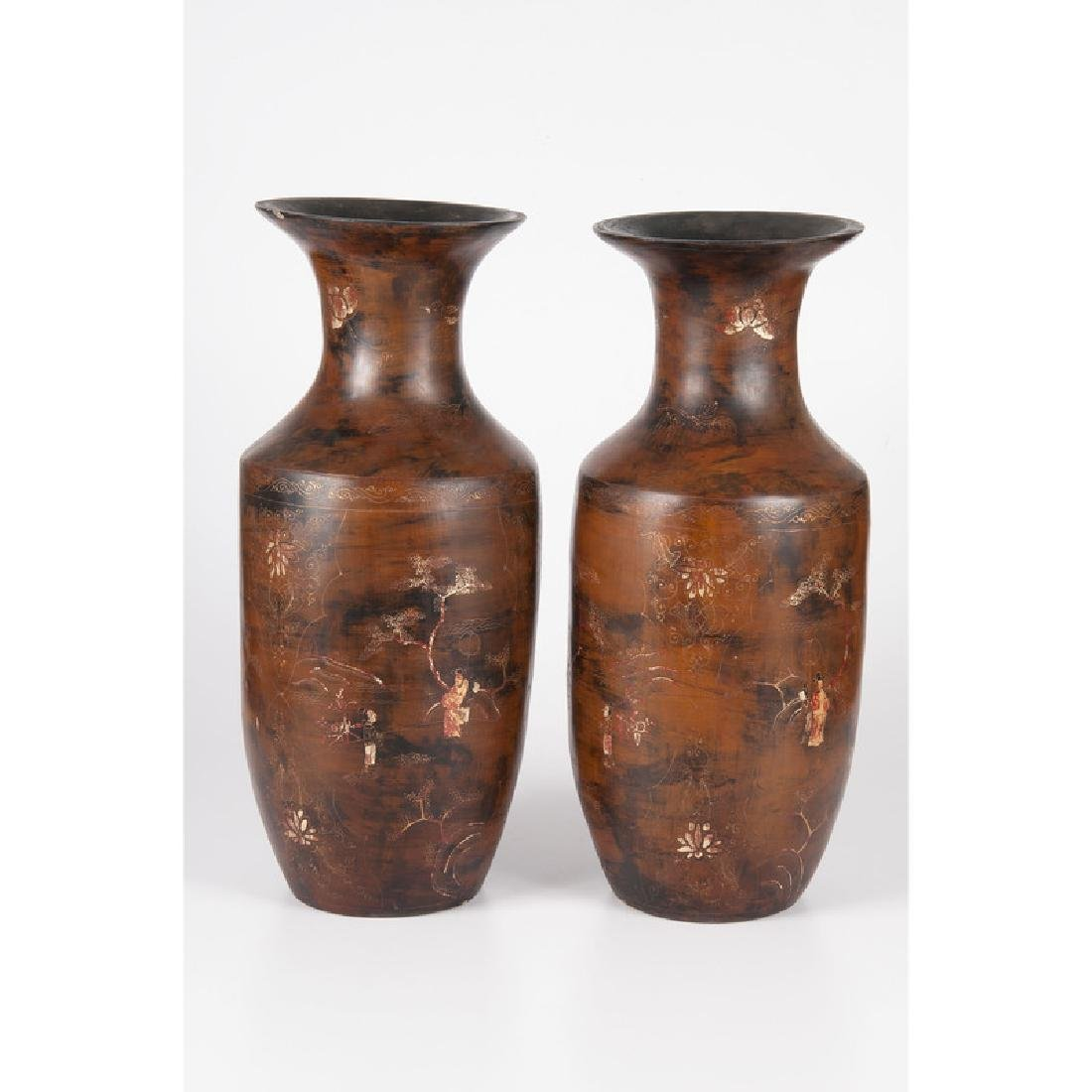 Japanese Lacquer Vases