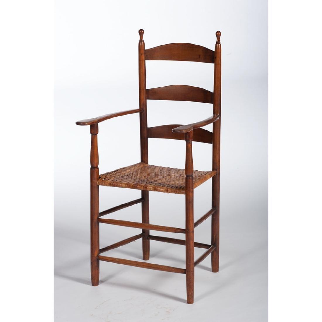 Ladderback Armchair With Acorn Finials