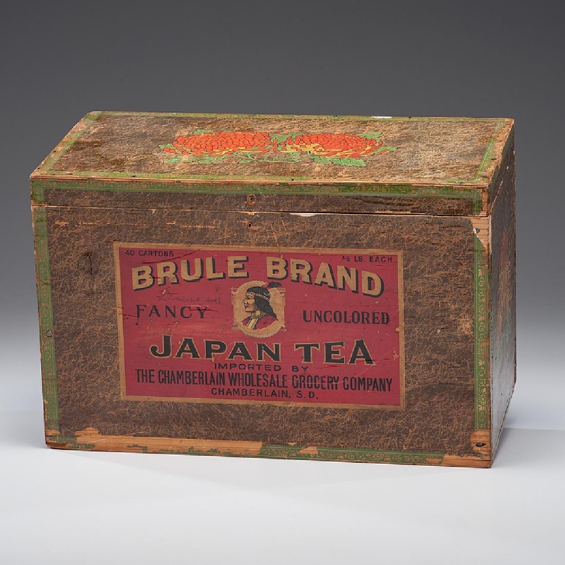 Brule Brand Tea Box