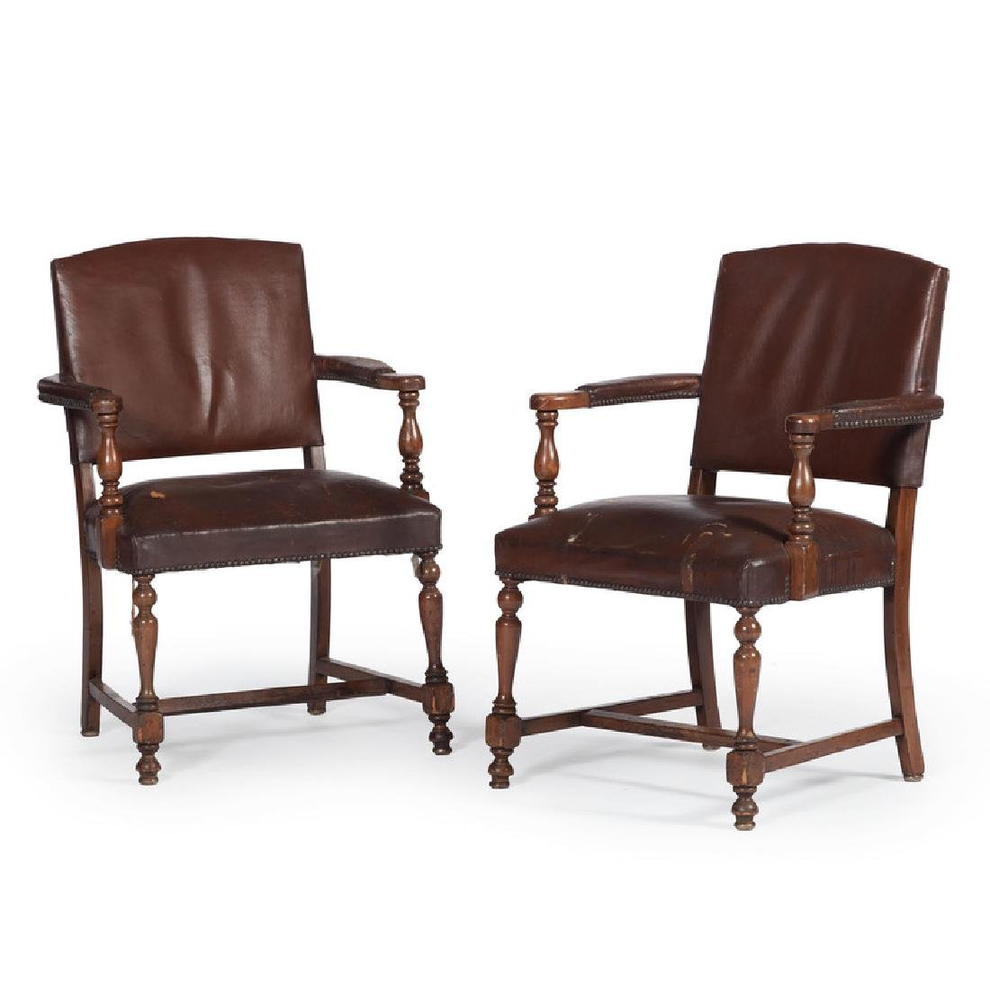 Leather Upholstered Armchairs