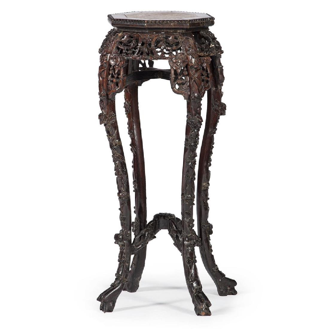Chinese Carved Fern Stand