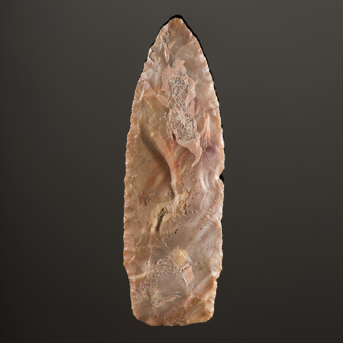 A Stemmed Flint Ridge Lanceolate, From the Collection