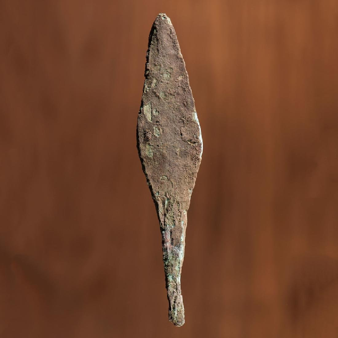 An Old Copper Culture Rat Tail Spear, From the