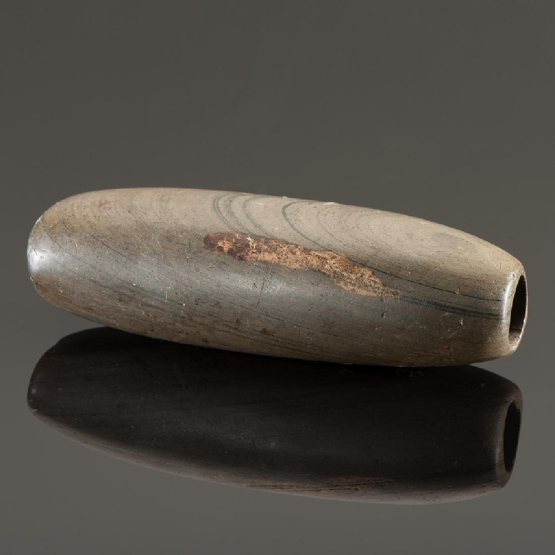 A Slate Tube Bannerstone, From the Collection of Jan