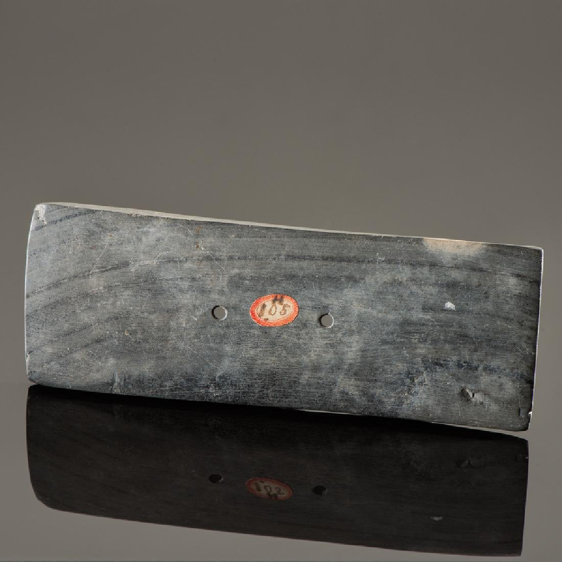 A Rectangular Slate Gorget, From the Collection of Jan
