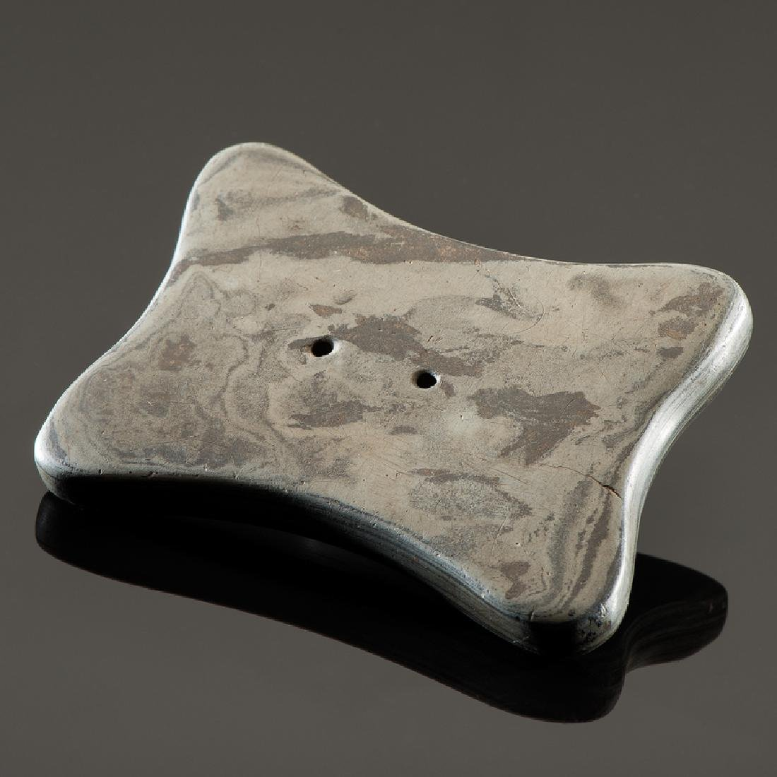 A Quadraconcave Slate Gorget, From the Collection of