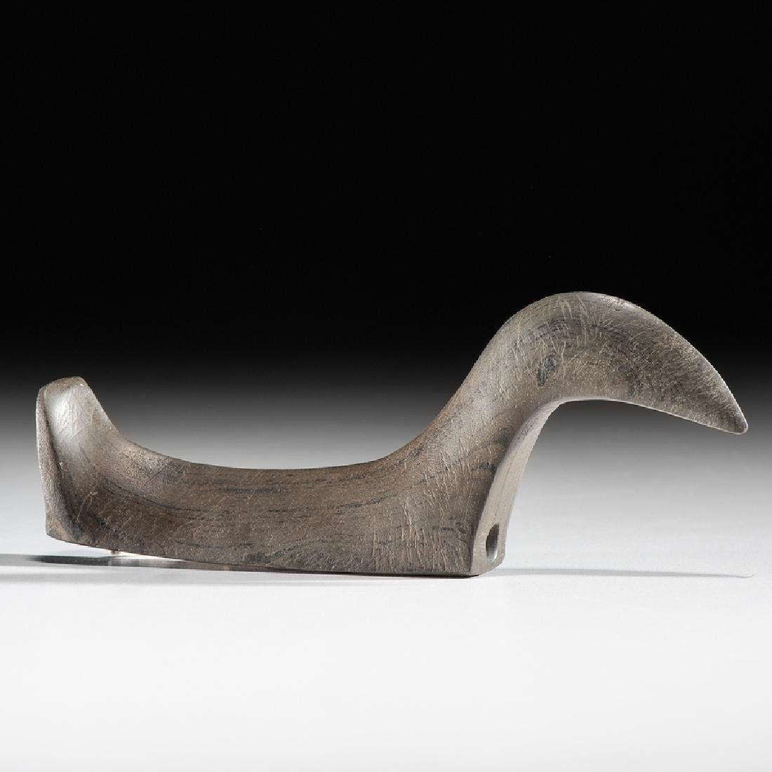 An Elongated Slate, Long Neck Birdstone, From the