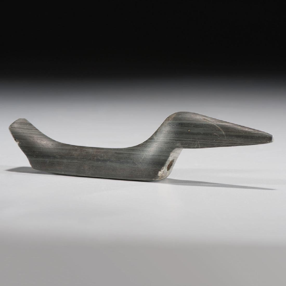 An Elongated Slate Birdstone, From the Collection of