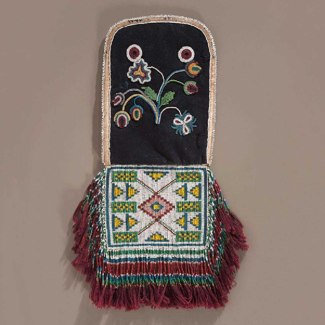 Cree Beaded Wool Fire Bag