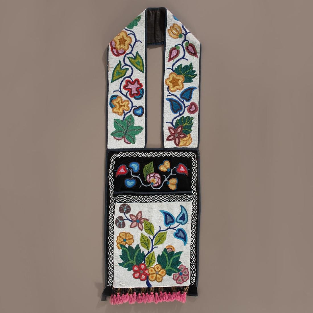 Anishanaabe Beaded Bandolier Bag