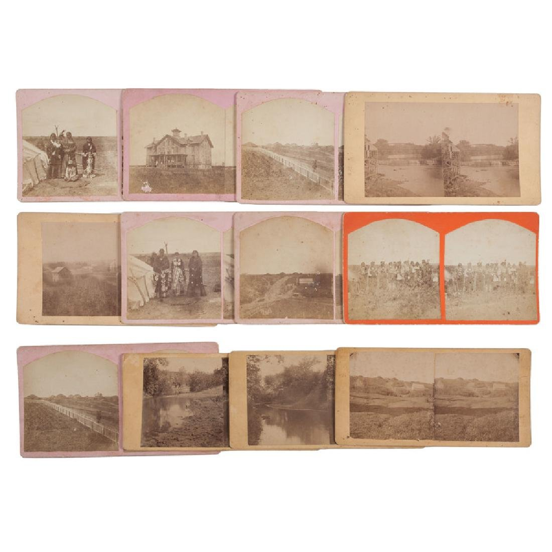 Scarce Group of Stereoviews Depicting Otoe, by