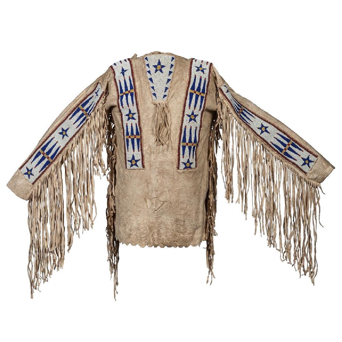 Sioux Boy's Beaded Hide War Shirt, Collected by Gustav