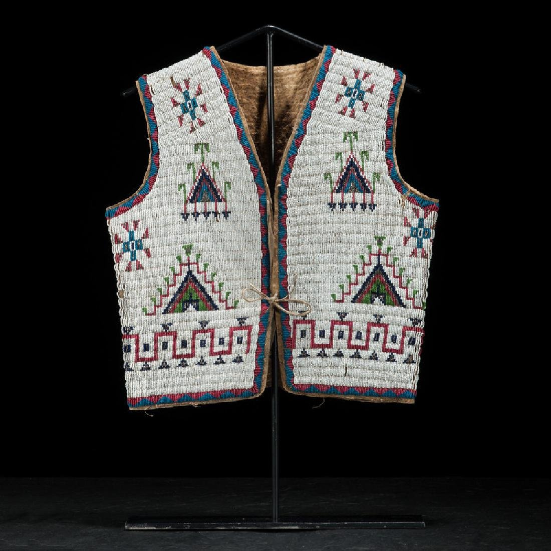 Sioux Beaded Hide Vest, Collected by Gustav (Gus) Sigel