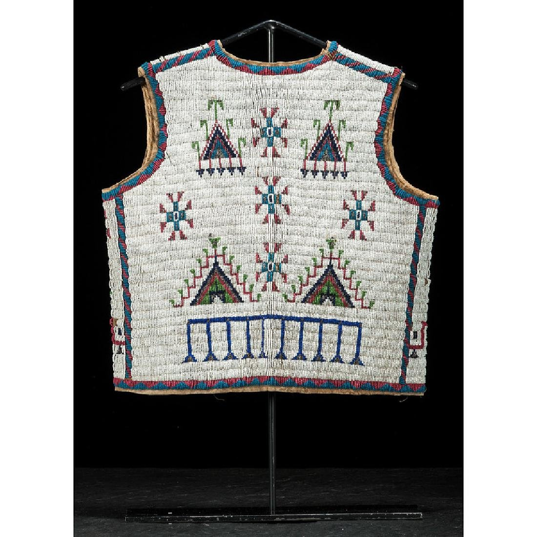 Sioux Beaded Hide Vest, Collected by Gustav (Gus) Sigel - 2