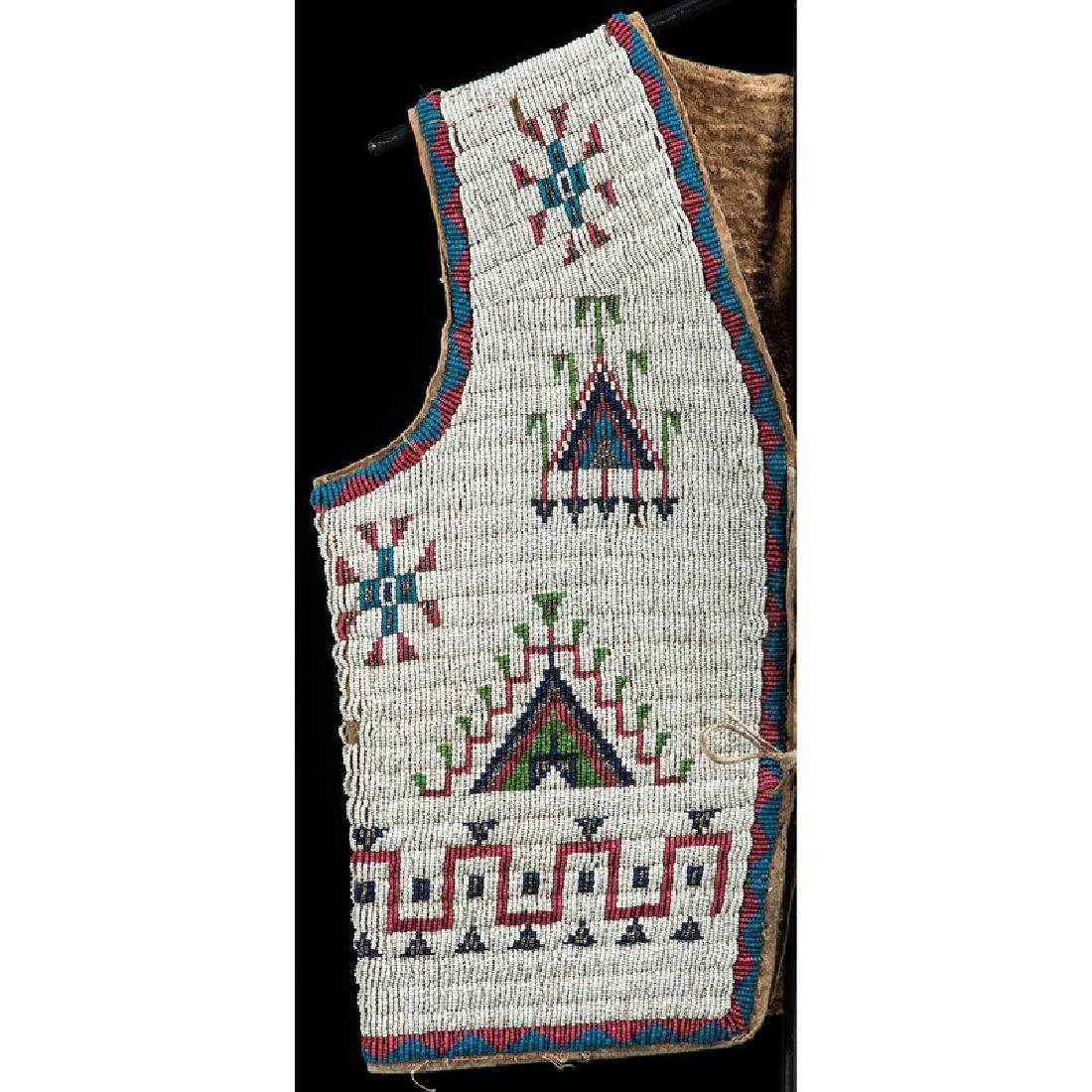 Sioux Beaded Hide Vest, Collected by Gustav (Gus) Sigel - 3