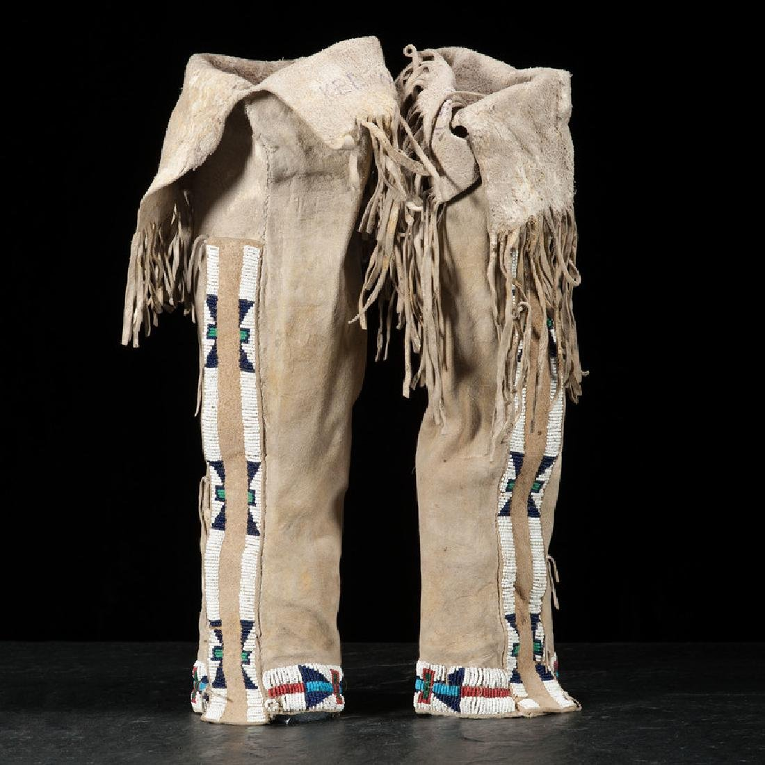 Arapaho Beaded Hide Leggings