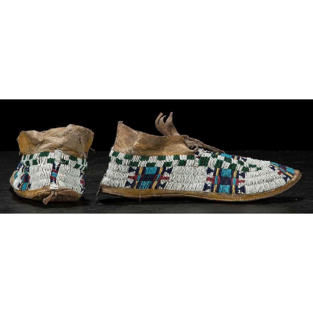 Cheyenne Child's Beaded Hide Moccasins - 2