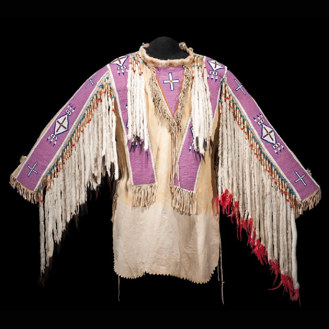 A'aninin (Gros Ventre) Beaded Hide War Shirt