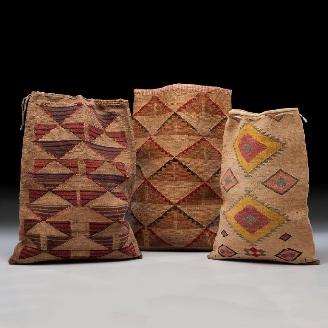 Nez Perce Corn Husk Flat Bags, From the Collection of