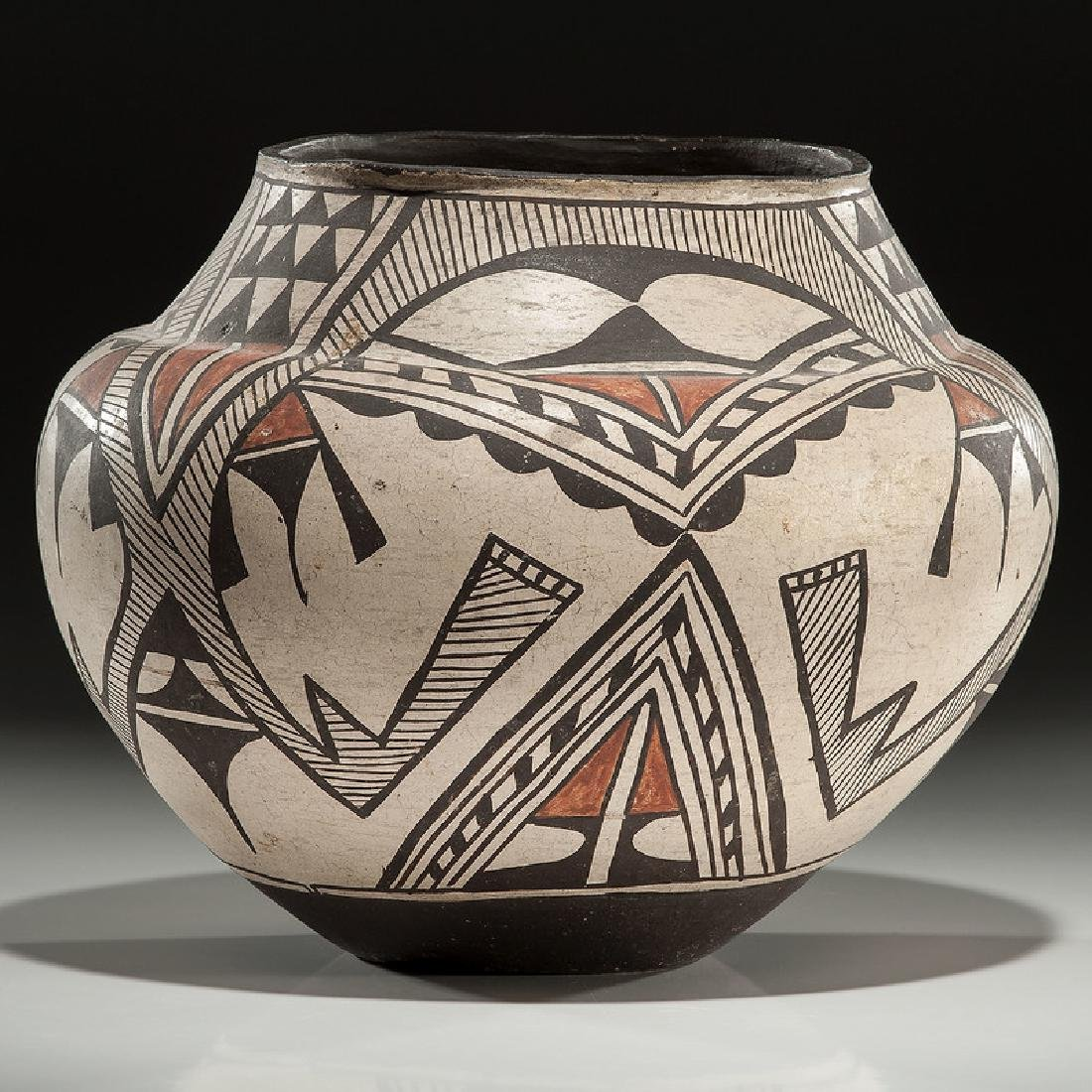 Zuni Polychrome Pottery Olla, From the Collection of