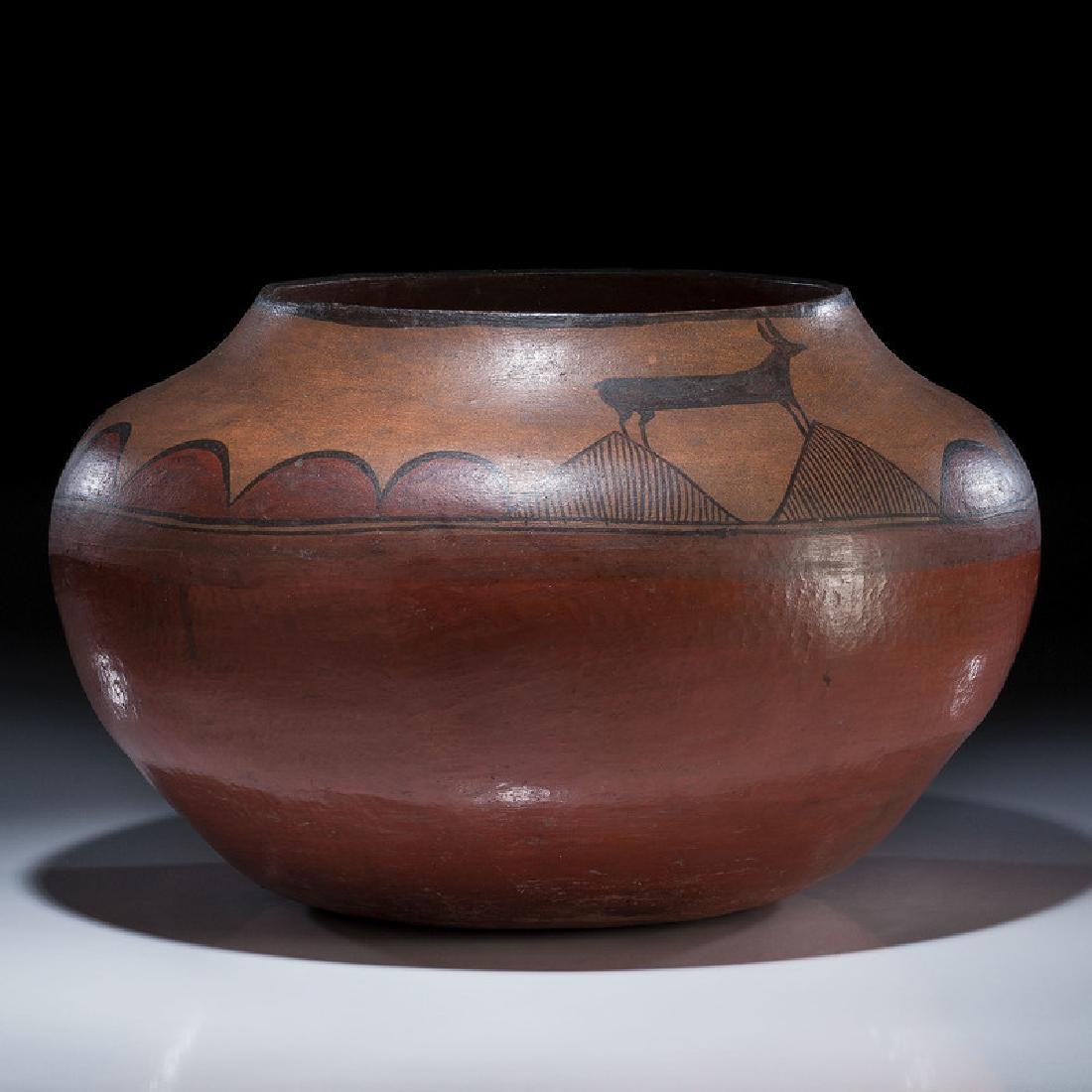 Zia Pictorial Pottery Olla, From the Collection of