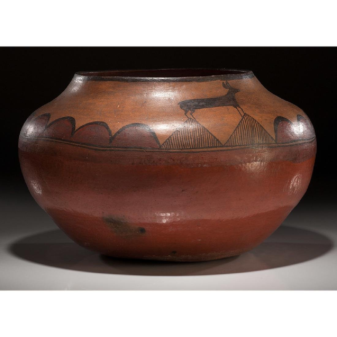 Zia Pictorial Pottery Olla, From the Collection of - 2