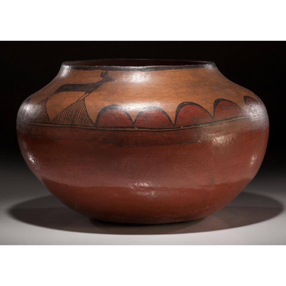 Zia Pictorial Pottery Olla, From the Collection of - 3