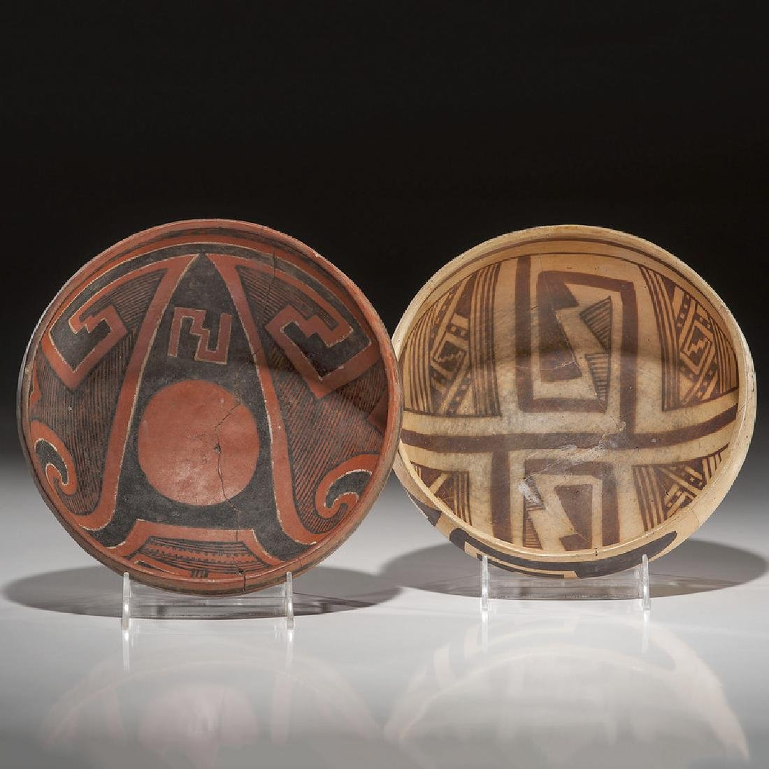 Jeddito and Four Mile Pottery Bowls, From the