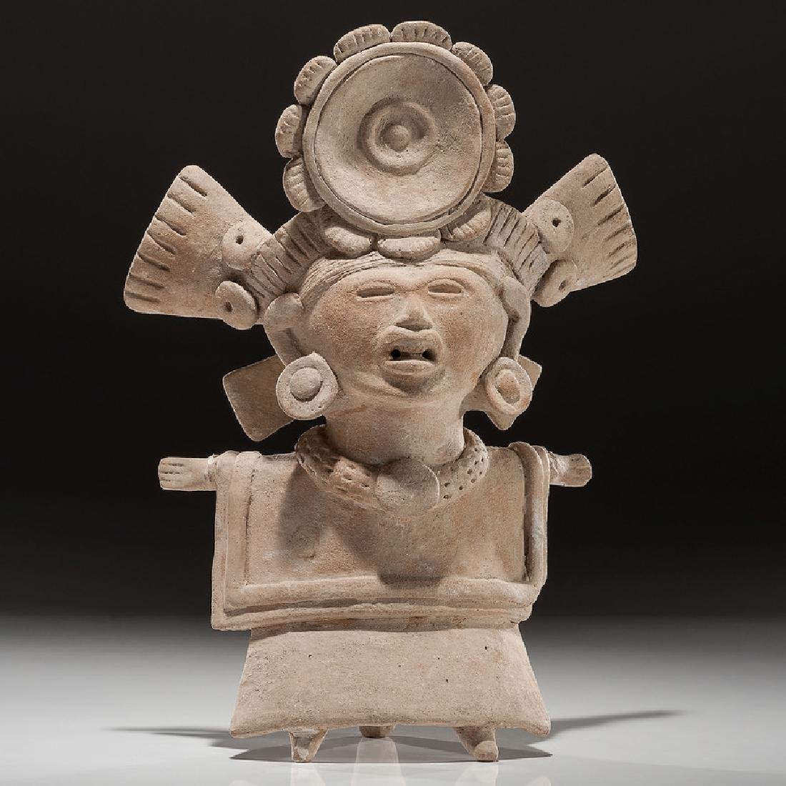 Early Classic Veracruz Figural Pottery Whistle