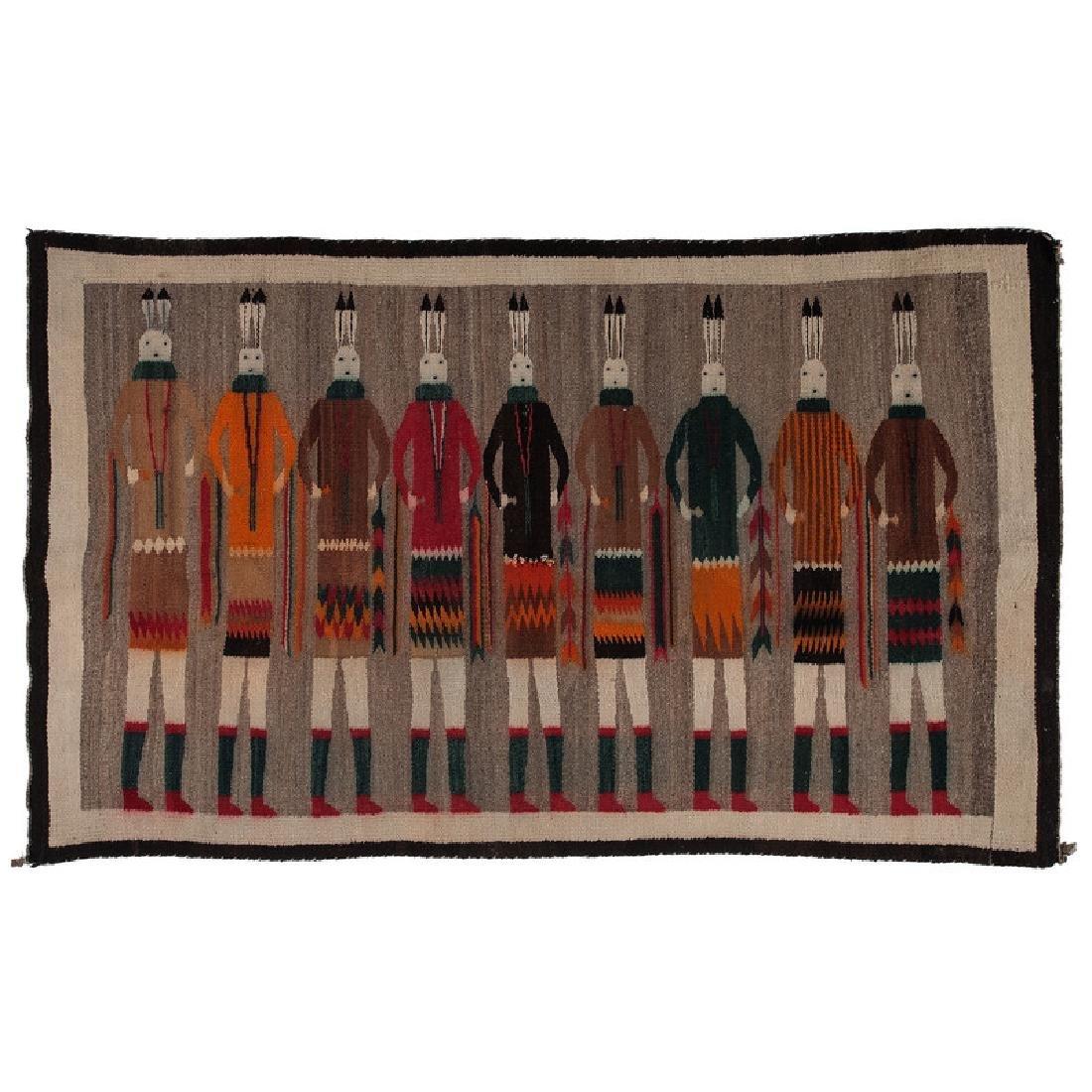 Navajo Yei Weaving / Rug