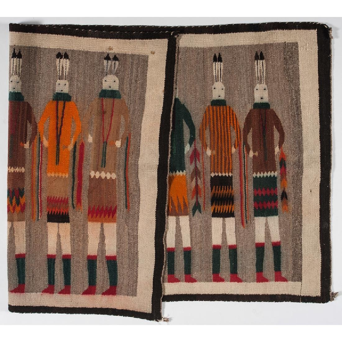 Navajo Yei Weaving / Rug - 2