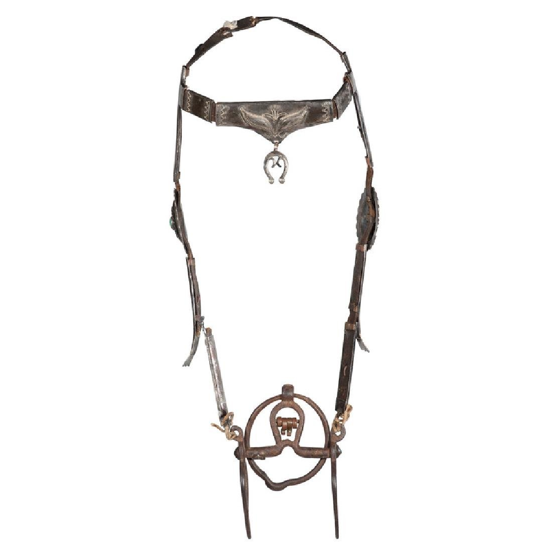 Navajo Silver Headstall with Bit