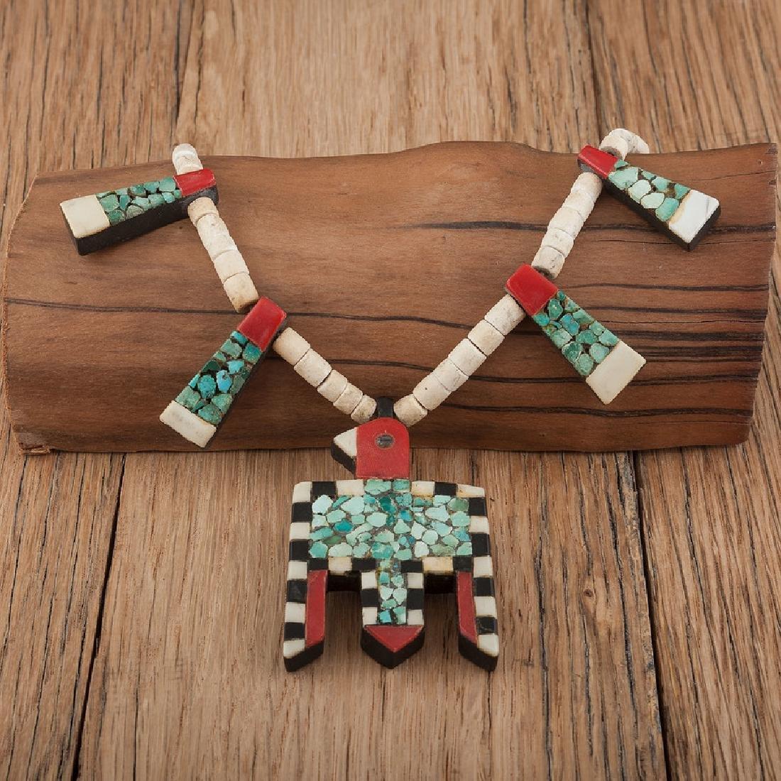 """Kewa Pueblo """"Depression Era"""" Necklace, Exhibited:"""