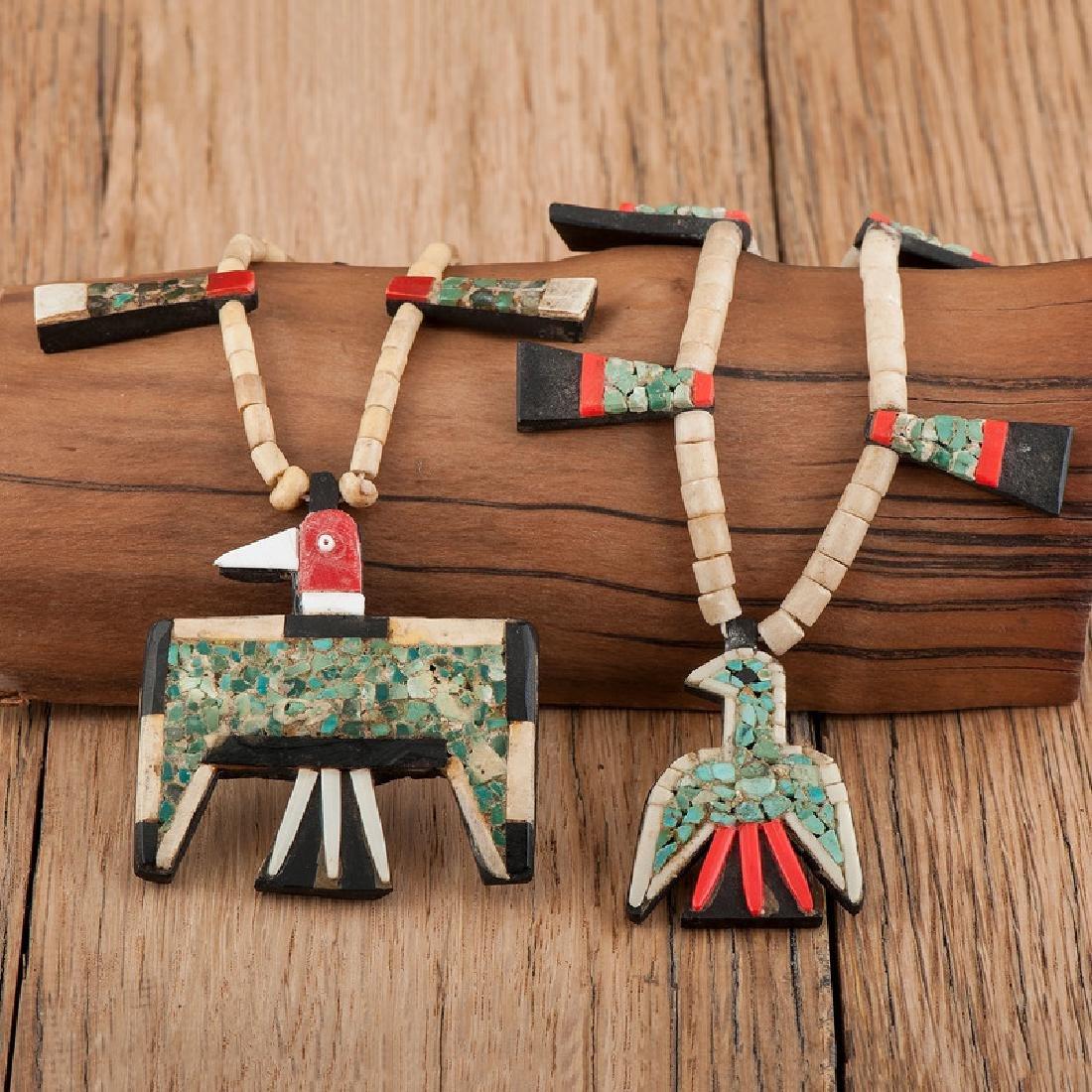 """Kewa Pueblo """"Depression Era"""" Necklaces, Exhibited:"""