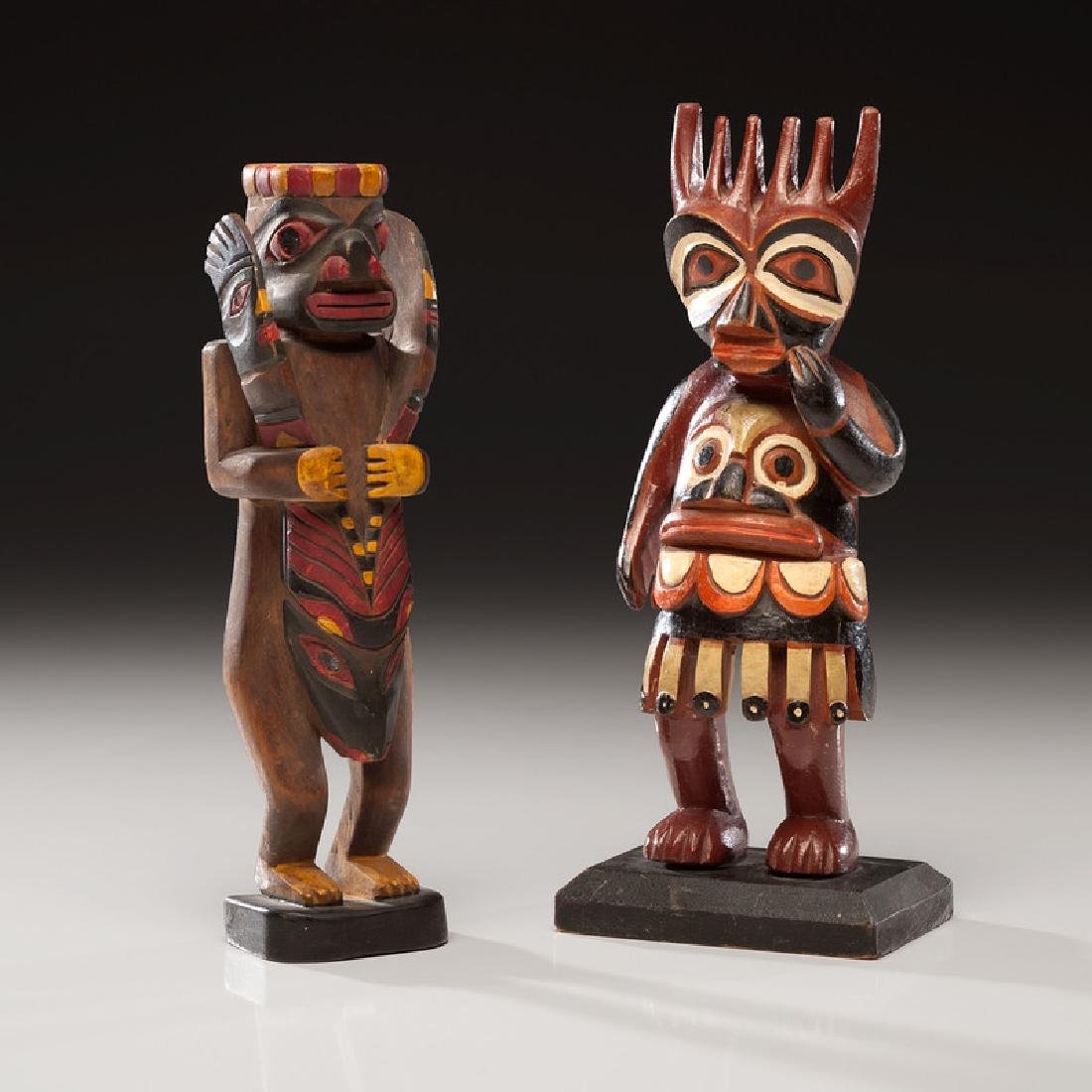 Northwest Coast Painted Wood Carvings with Nugget Shop