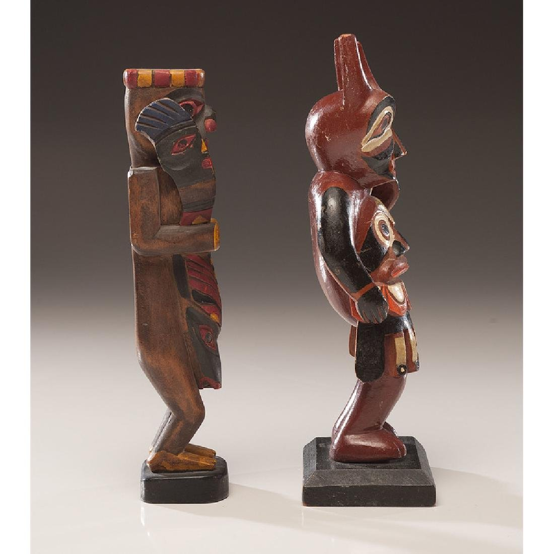 Northwest Coast Painted Wood Carvings with Nugget Shop - 2