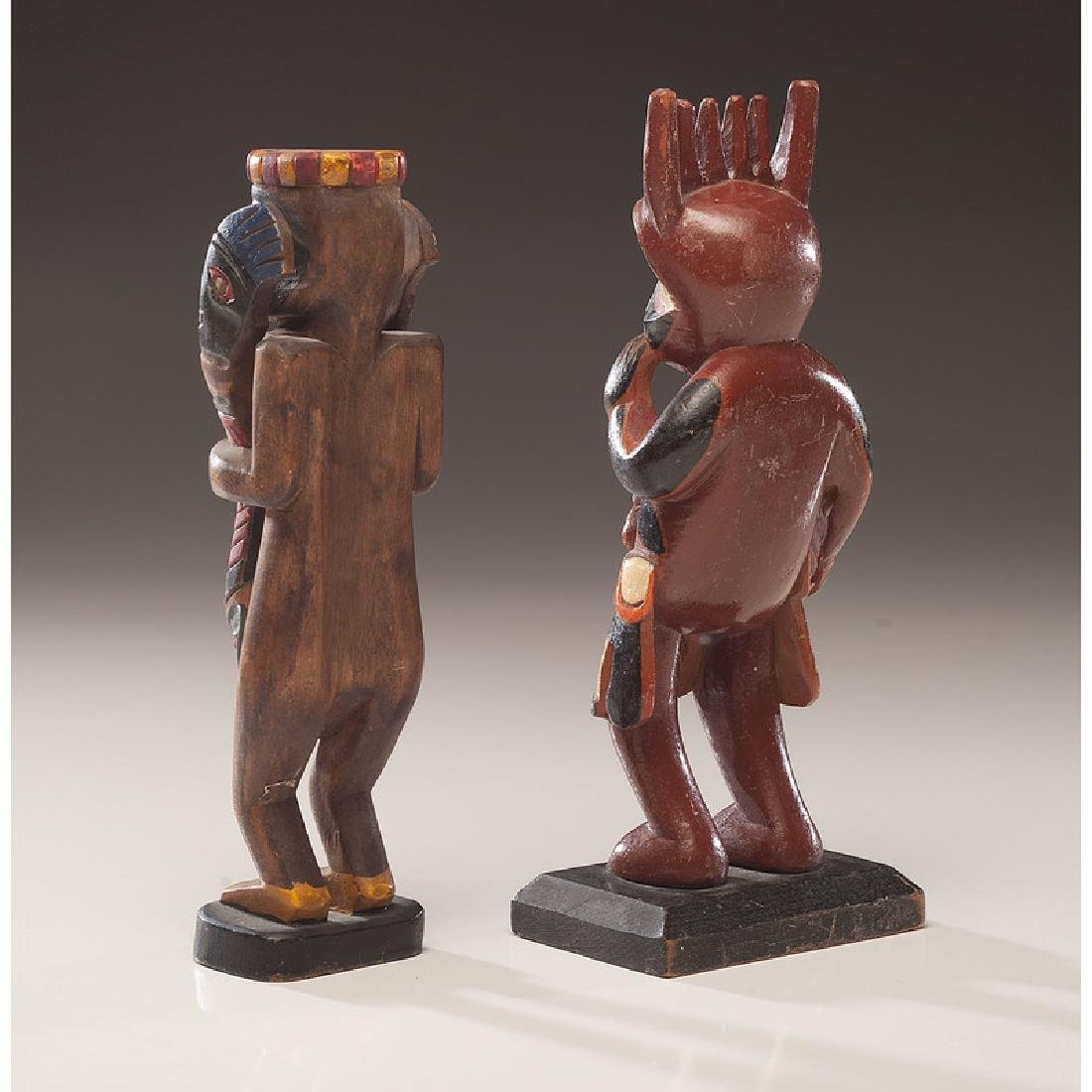 Northwest Coast Painted Wood Carvings with Nugget Shop - 3