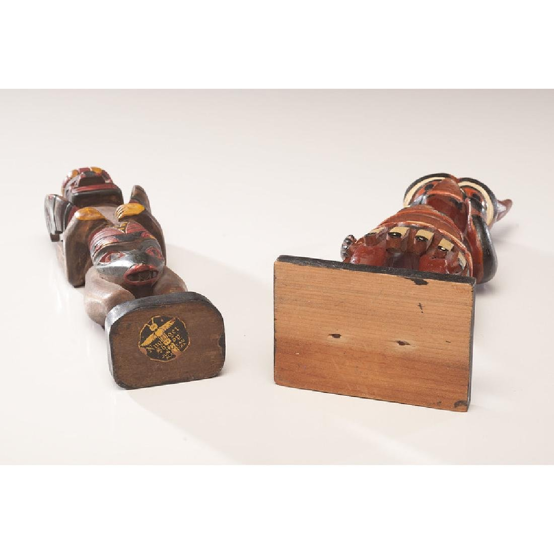 Northwest Coast Painted Wood Carvings with Nugget Shop - 4