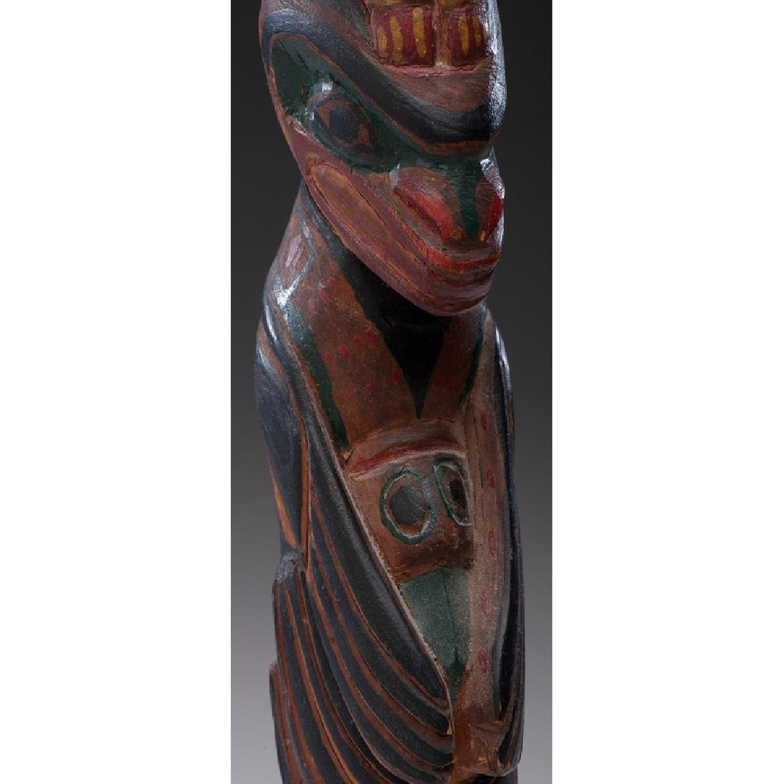 Northwest Coast Carved Wood Model Totem Pole - 6